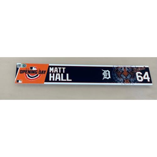 Photo of 2019 Opening Day Locker Name Plate: Matt Hall