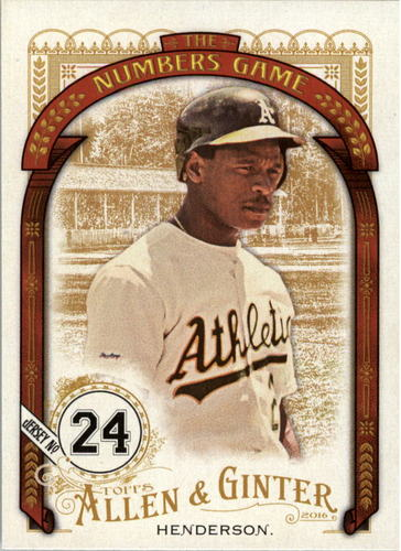Photo of 2016 Topps Allen and Ginter The Numbers Game #NG79 Rickey Henderson