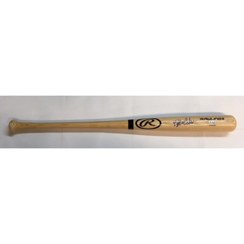 Photo of Dylan Carlson Autographed Blonde Rawlings Bat