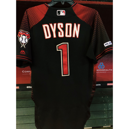 Photo of Jarrod Dyson 2019 Game-Used Jersey - 8/17/19 vs. Giants; 2H, 2R; Size 42