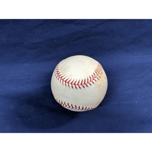 Game Used Baseball: Pitcher: Robbie Ray, Batter: Corey Seager - Double - Bot 3 - 8-9-2019 vs. ARI