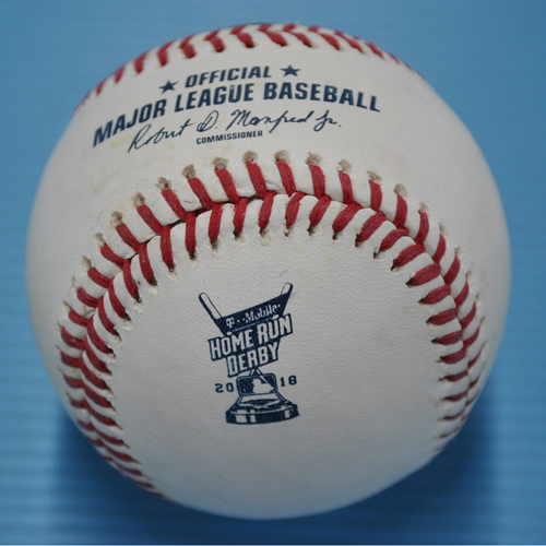 Photo of Game-Used Baseball - 2018 Home Run Derby - Rhys Hoskins - Round 2, Out