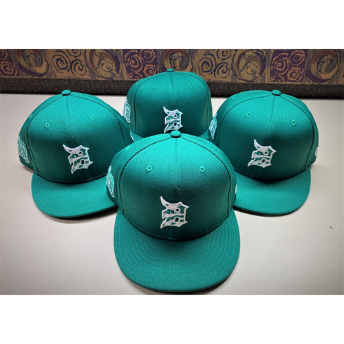 Photo of Detroit Tigers 2021 St. Patrick's Day Game-Used Green Cap Collection #4:  W. Castro, Rogers, Nunez, and Haase (MLB AUTHENTICATED)