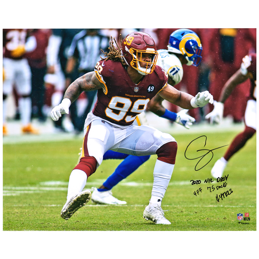 Chase Young Washington Football Team 16'' x 20'' Signed & Multi-Inscribed Photo - Limited Edition #20/20