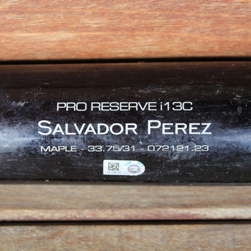 Photo of Game-Used Broken Bat: Salvador Perez #13 (KC@DET 9/25/21)