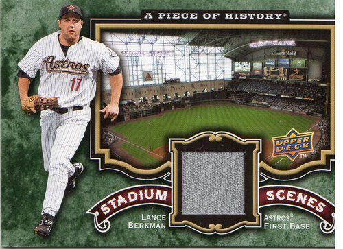 Photo of 2009 UD A Piece of History Stadium Scenes Jersey #SSLB Lance Berkman