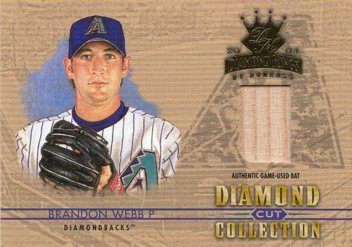 Photo of 2004 Diamond Kings Diamond Cut Bats #14 Brandon Webb/100