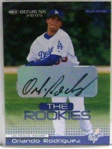 Photo of 2005 Donruss Rookies Autographs #10 Orlando Rodriguez