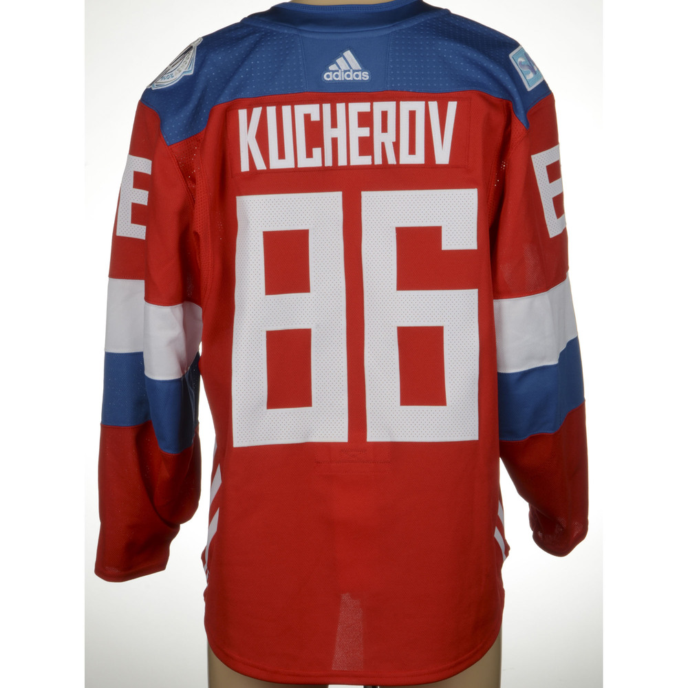 lowest price 4cdda e7e7c Nikita Kucherov Tampa Bay Lightning Game-Worn 2016 World Cup ...