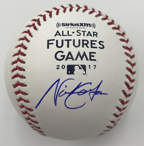 Photo of Nick Gordon Autographed 2017 Futures Game Logo Baseball