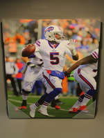 BILLS - TYROD TAYLOR SIGNED 16X20 SIGNED CANVAS PRINT
