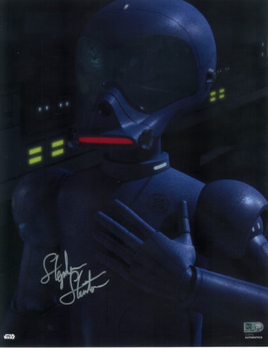 Stephen Stanton as AP-5 11x14 Autographed in Silver Ink Photo