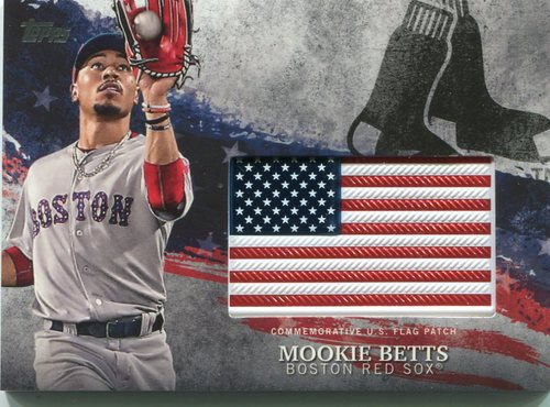 Photo of 2018 Topps Independence Day U.S. Flag Relics #IDMLMB Mookie Betts