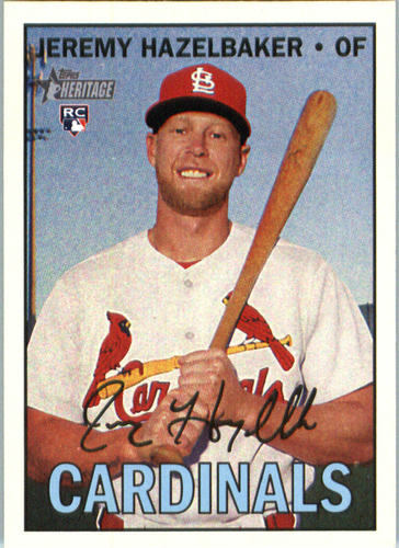 Photo of 2016 Topps Heritage #585A Jeremy Hazelbaker RC