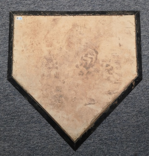 Photo of Authenticated Game Used Home Plate - MLB Debut and 1st MLB Win for Masahiro Tanaka (April 4, 2014: Blue Jays Home Opener)