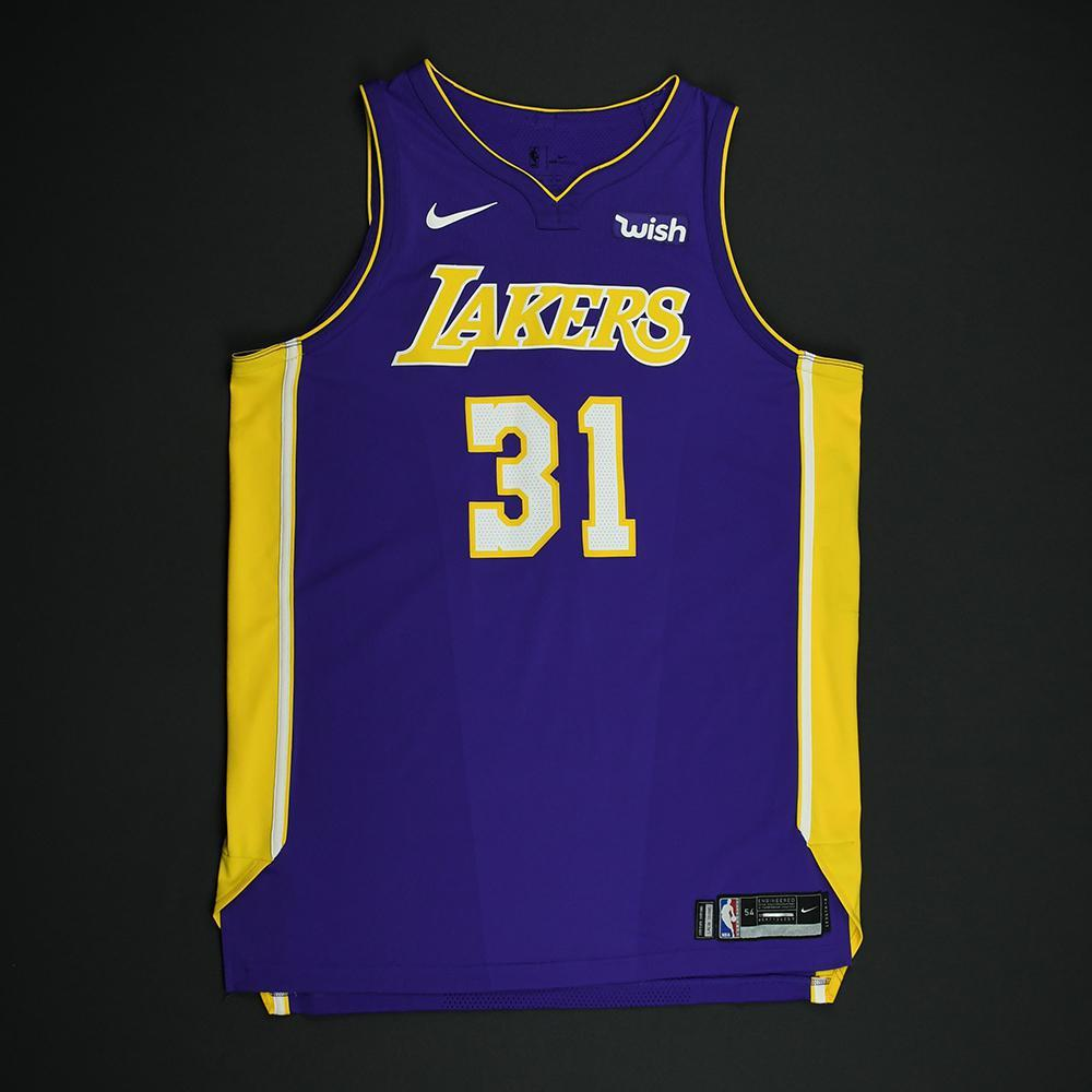 Thomas Bryant - Los Angeles Lakers - Game-Issued Jersey - 2017-18 ...
