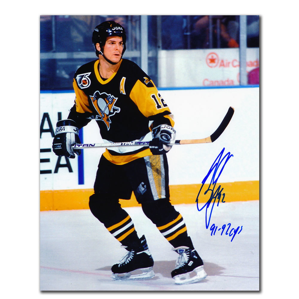 Bob Errey Pittsburgh Penguins 1991 & 1992 CUPS Autographed 8x10