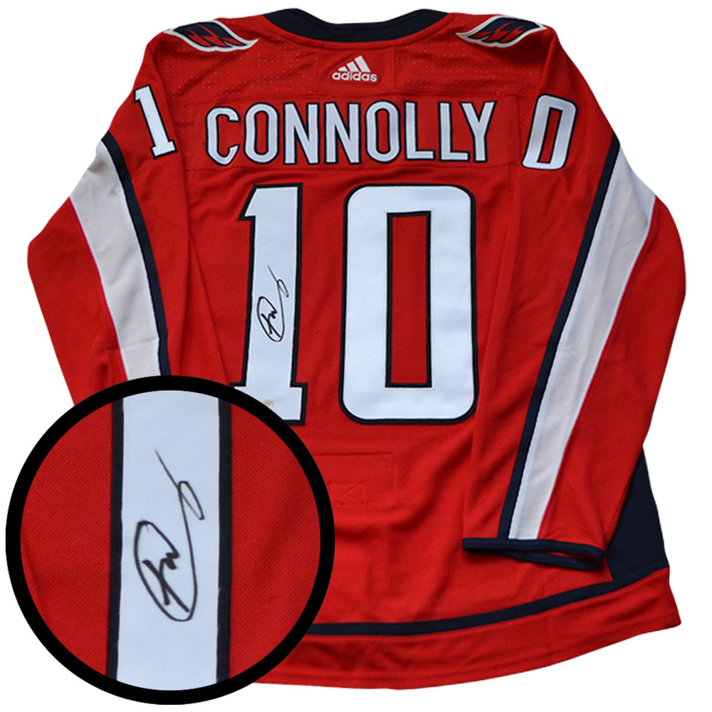 Brett Connolly Signed Jersey Capitals Pro Red 2017-2018 Adidas