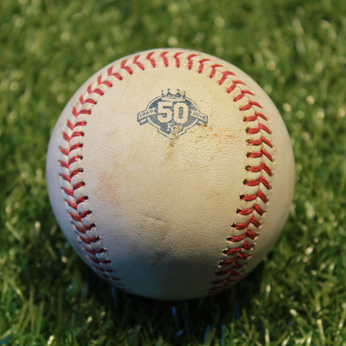 Photo of Game-Used Baseball: Jorge Polanco 270th Career Hit (9/16/18 - MIN @ KC)