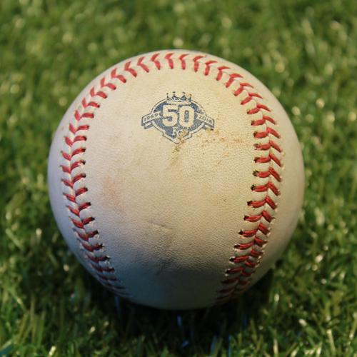 Photo of Game-Used Baseball: Jorge Polanco 270th Career Hit (9/16/18 - MIN @ KC)