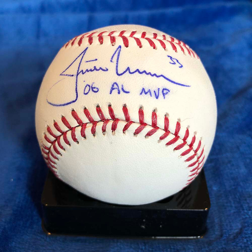 Photo of UMPS CARE AUCTION: Justin Morneau Signed Baseball