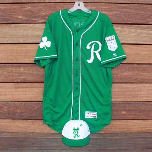 Photo of Team-Issued Saint Patrick's Day Jersey and Game-Used Cap: Jecksson Flores (Jersey Size 44 - Cap Size 7)