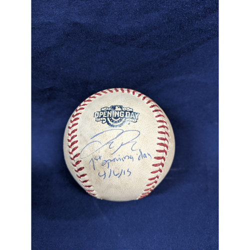 Photo of Joc Pederson Game Used Autographed and Inscribed 1st Opening Day Ball
