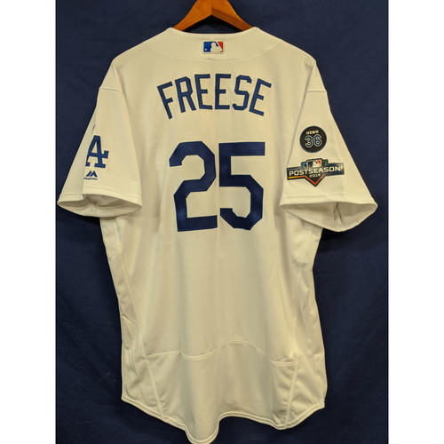 Photo of David Freese Team-Issued 2019 Postseason Home Jersey