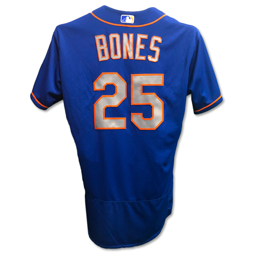 Photo of Ricky Bones #25 - Game Used Blue Alt. Road Jersey - Mets vs. Nationals - 9/22/18