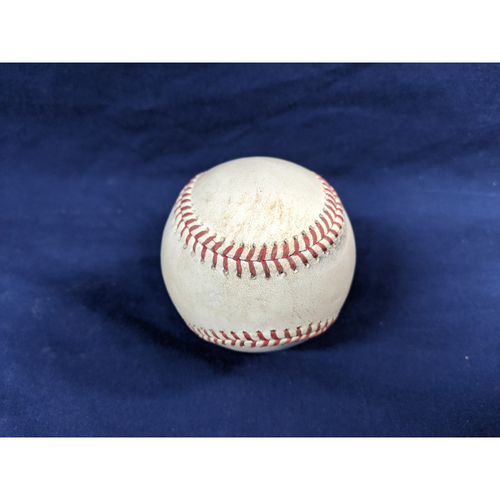 Photo of Game Used Baseball: Pitcher: Kenley Jansen, Batters: Matt Duffy (Walk), Ji-Man Choi (RBI Single), Travis d'Arnaud (Foul) Top 9 - 9-18-2019 vs. TB