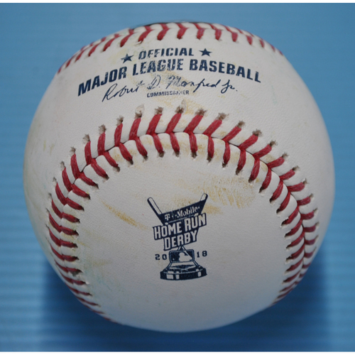Game-Used Baseball - 2018 Home Run Derby - Freddie Freeman - Round 1, Out
