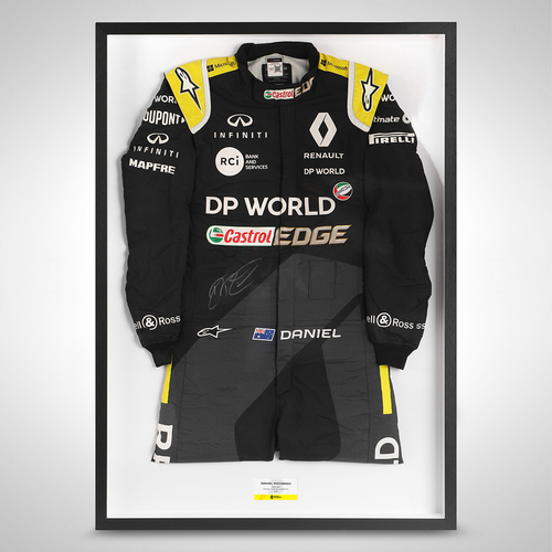 Photo of Daniel Ricciardo 2020 Signed Race Used Race Suit - British GP