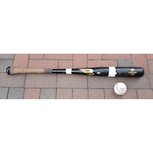 Photo of Austin Hays: 2021 Game-Used Broken Bat and Baseball Combo