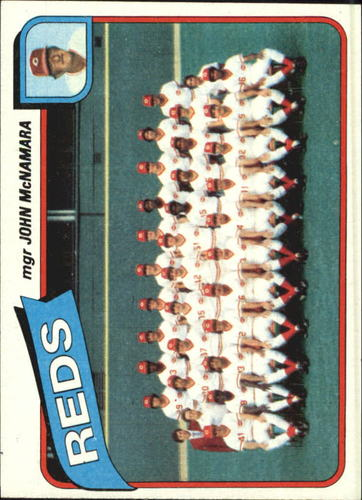 Photo of 1980 Topps #606 Cincinnati Reds CL/John McNamara MG