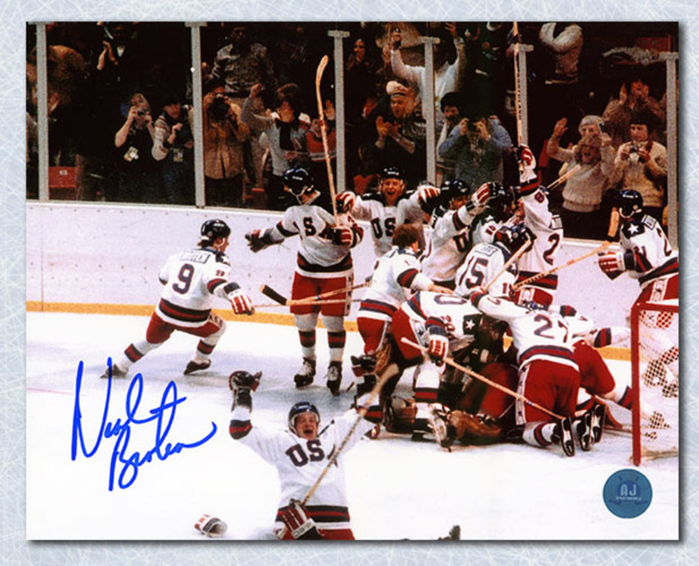 Neal Broten Team USA Autographed Miracle On Ice 1980 Olympic 8x10 Photo