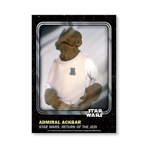 Admiral Ackbar 2016 Star Wars Card Trader Base Poster - # to 99