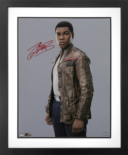 John Boyega as Finn 16x20 Autographed in Red Ink Photo