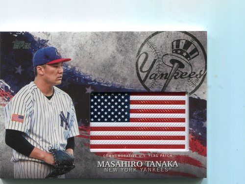 Photo of 2018 Topps Independence Day U.S. Flag Relics #IDMLMK Masahiro Tanaka