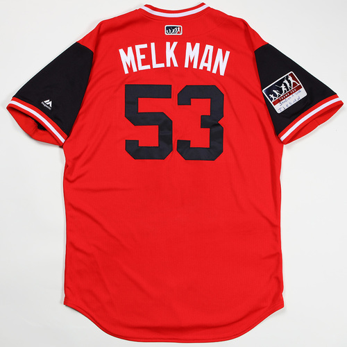 "Photo of Melky ""Melk Man"" Cabrera Cleveland Indians Game-Used Jersey 2018 Players' Weekend Jersey"