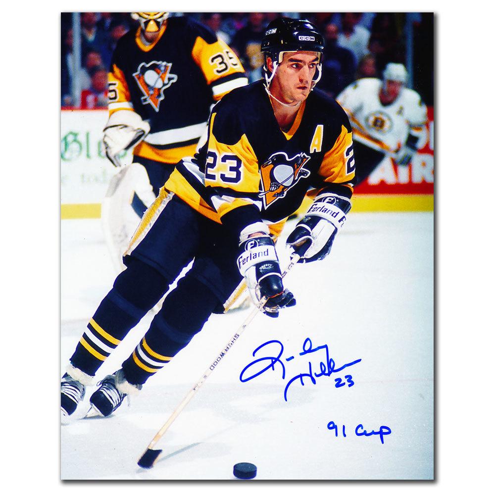 Randy Hillier Pittsburgh Penguins 1991 CUP Autographed 8x10