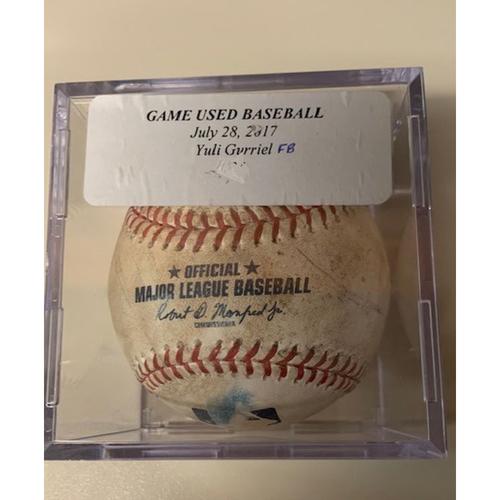Photo of Game-Used Baseball: Yulieski Gurriel Foul Ball