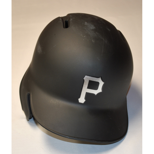 "Photo of Melky ""MELK MAN"" Cabrera Pittsburgh Pirates Game-Used 2019 Players' Weekend Helmet (Left-Handed)"