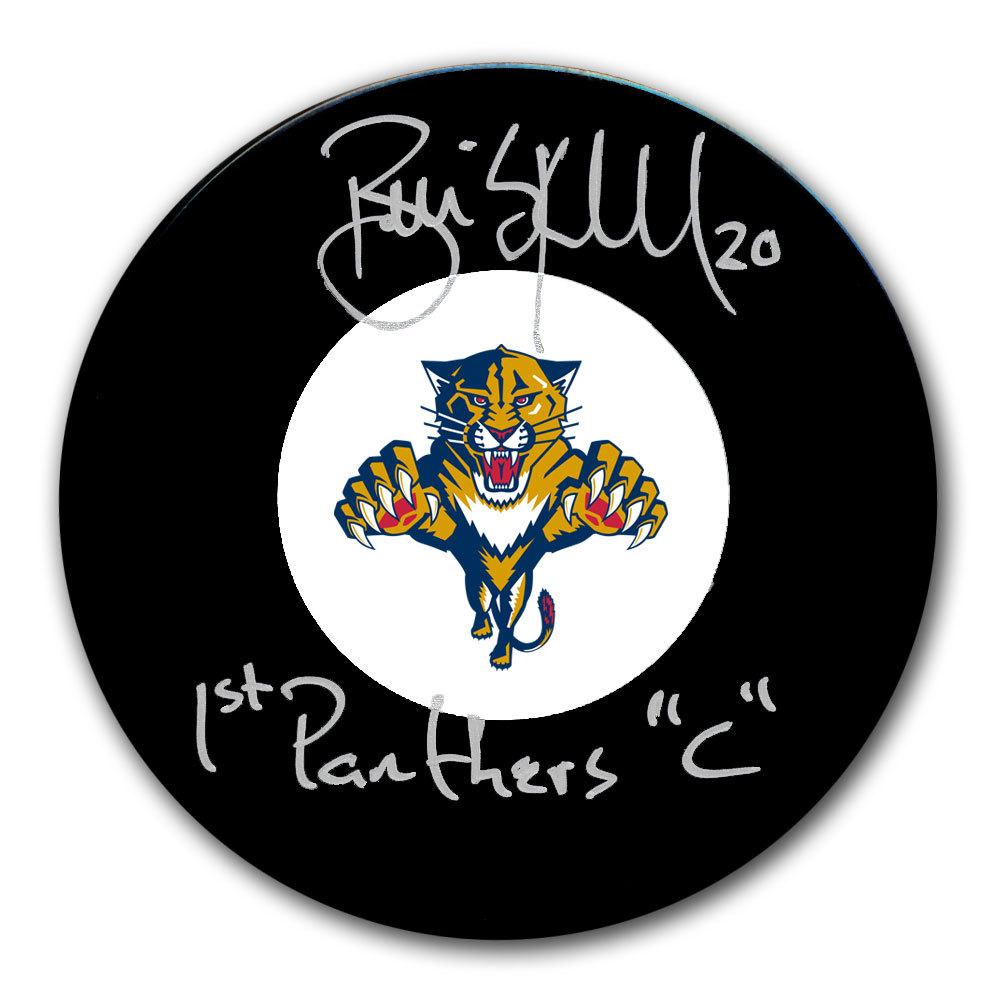 Brian Skrudland Florida Panthers 1ST PANTHERS CAPTAIN Autographed Puck