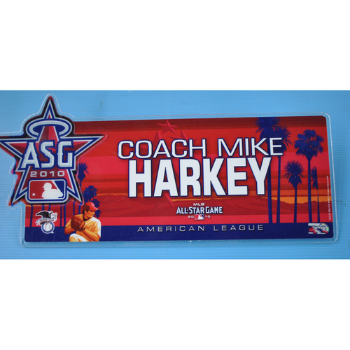 Photo of Game-Used Locker Tag - 2010 All-Star Game - Mike Harkey