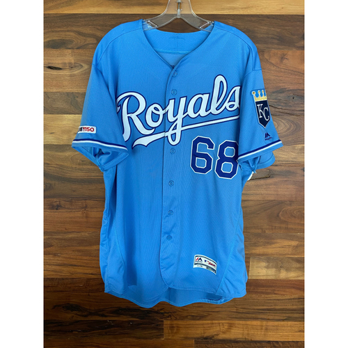 Photo of Game-Used Jersey: Jake Newberry (Size 48 - MIN @ KC - 9/28/19)
