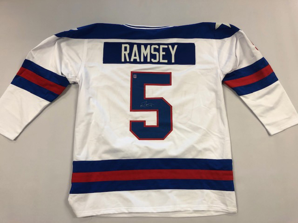 Mike Ramsey Autographed Team USA Jersey