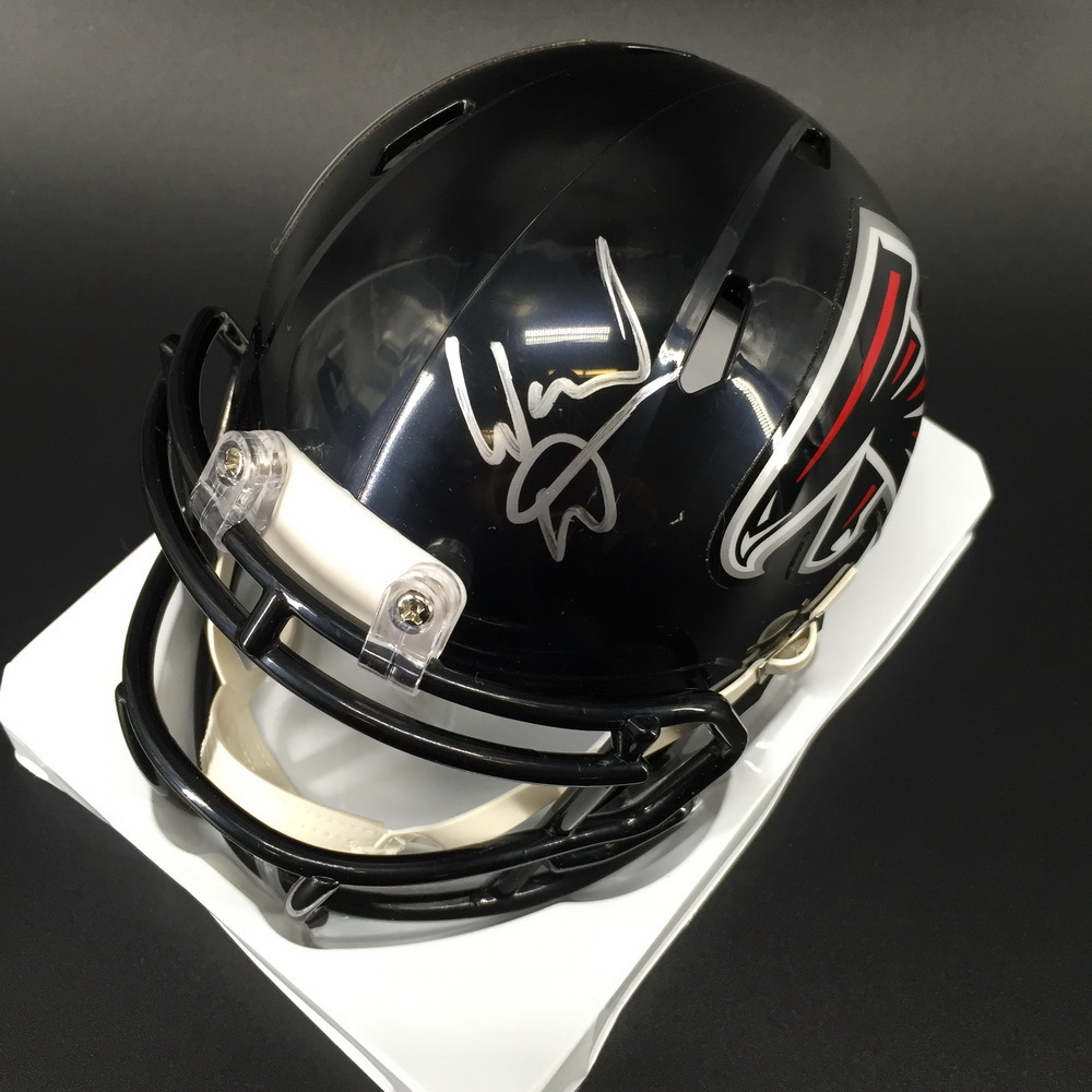 Legends - Falcons Warrick Dunn Signed Mini Helmet
