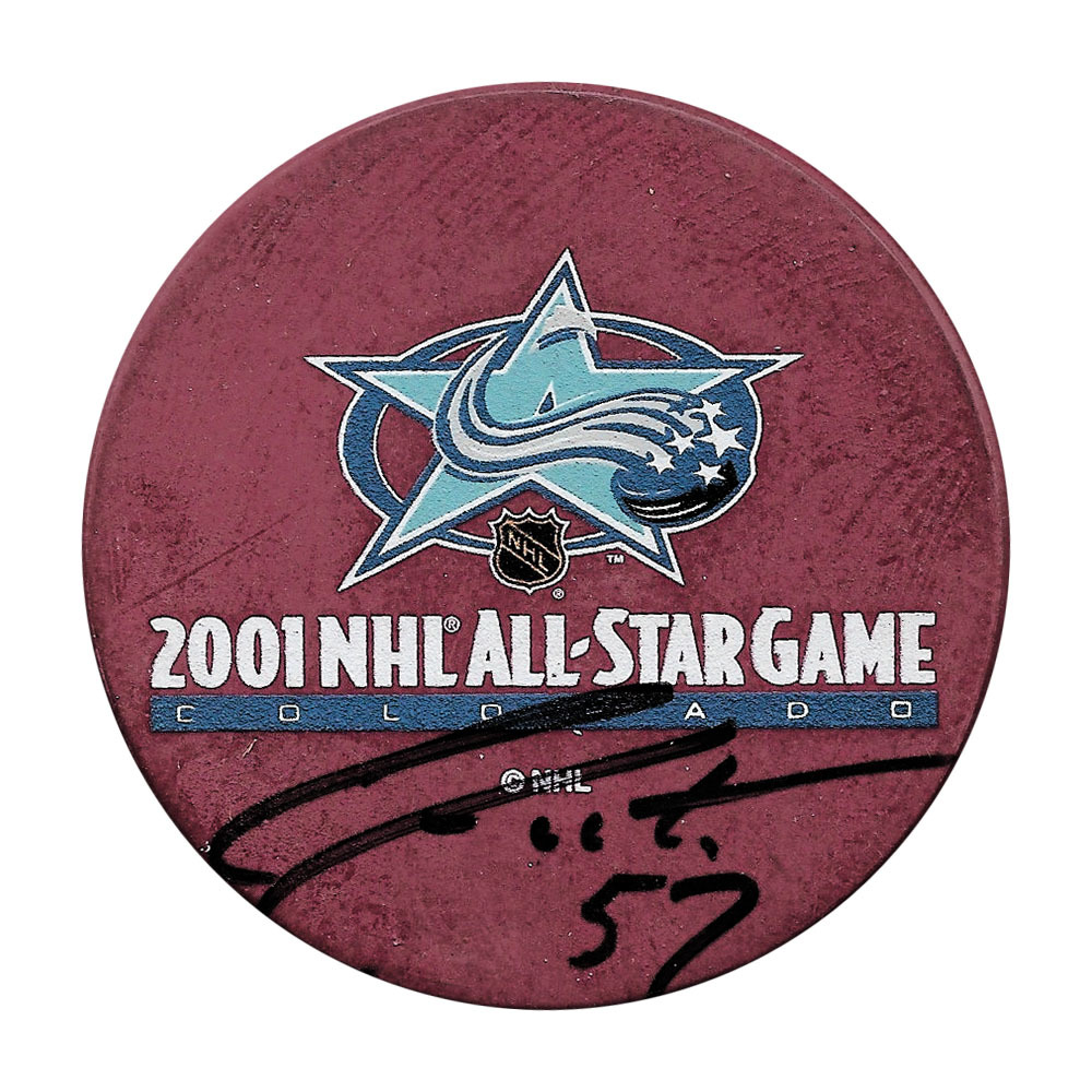 Adam Foote Autographed 2001 NHL All-Star Game Puck