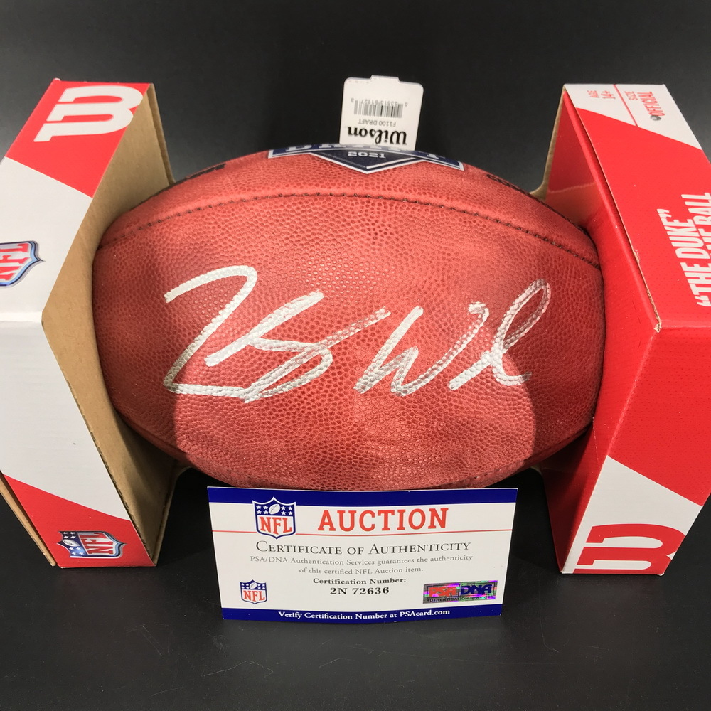 NFL - Jets Zach Wilson Signed Authentic Football with 2021 Draft Logo