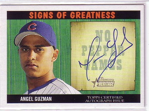 Photo of 2005 Bowman Heritage Signs of Greatness #AG Angel Guzman C